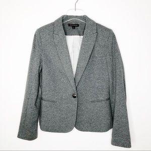 British Khaki Women's Blazer in Gray Sz S